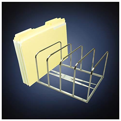 ArtsOnDesk Modern Art Section-Combinable File Sorter St208 Stainless Steel Satin Finish Magazine Holder Mail Letter Document Binder Folder Organizer Stand Record Rack Desk Office Accessory Gift ()
