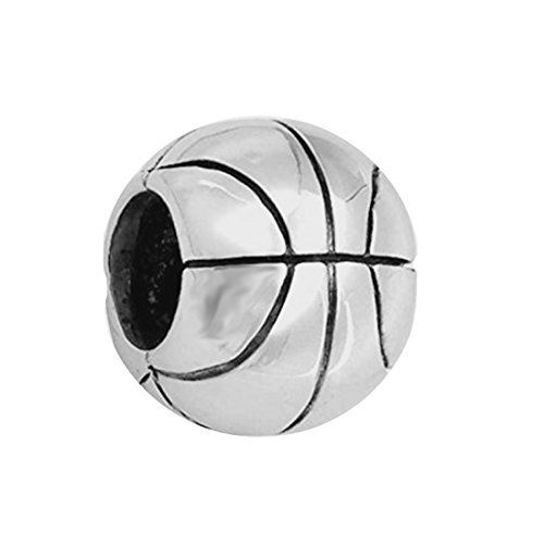 Basketball charm 925 Sterling Silver Sport Beach Ball Beads for DIY Charms Bracelet