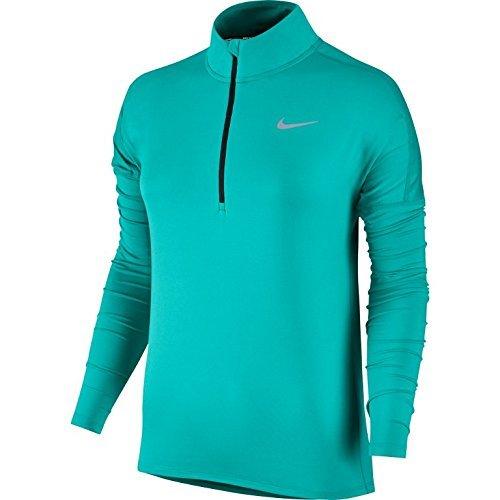 Nike Women's Dry Element Half Zip Top (Medium, Turbo Green)