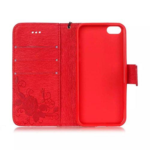 IPhone 5 5S SE Étui Housse, Vandot IPhone 5 5S SE étui coque Case Cover smart Flip Cuir Case à rabat Coque de protection Portefeuille Crystal Strass Coquille Arrière Bumper Hull avec Pratique Fonction