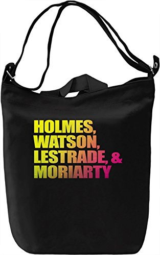 Holmes Watson Lestrade And Moriarty Borsa Giornaliera Canvas Canvas Day Bag| 100% Premium Cotton Canvas| DTG Printing|