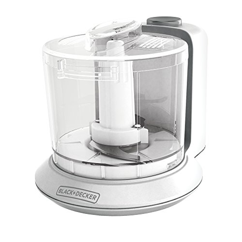 (BLACK+DECKER HC306 1.5-Cup Electric Food Chopper, White)