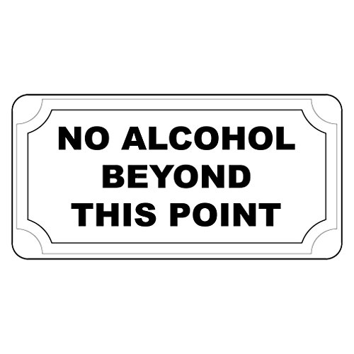 Fastasticdeals No Alcohol Beyond This Point Retro Vintage Style Metal Sign - 8 in X 12 in