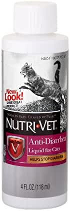 Nutri-Vet Anti Diarrehea Liquid for Cats | Detodxifying Agent Works Against Bacterial Toxins | 4 Ounces