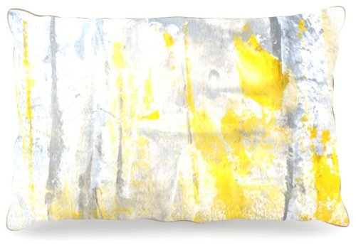 Large 30\ Kess InHouse CarolLynn Tice Abstraction  Dog Bed, 50 by 60-Inch, Grey Yellow