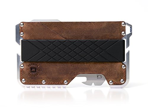 Dango T01 Tactical EDC Wallet - Made in USA - Genuine Leather, Multitool, RFID - Genuine Usa Wallet
