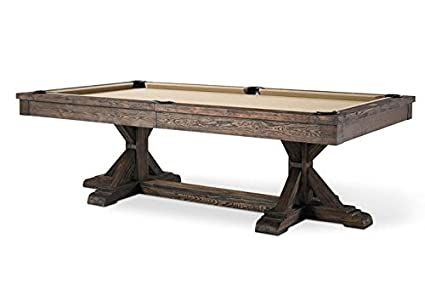 Plank U0026 Hide Thomas 8 Ft Billiards Pool Table   Silvered Oak