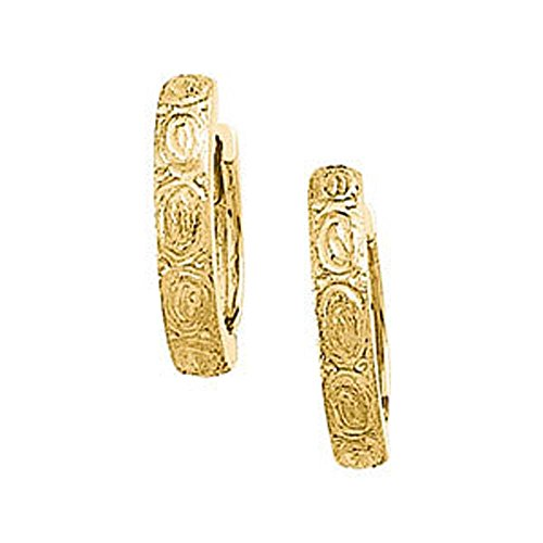 - 13.50 mm Hinged Earring in 14K Yellow Gold