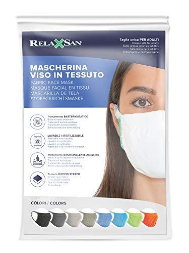 Relaxsan - Set 3 [Arancio Fluo] Fasce filtranti Viso Bocca Naso Lavabili riutilizzabili assorbenti Tessuto… 4 spesavip