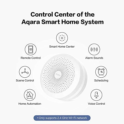 Aqara Hub, Wireless Smart Home Bridge for Alarm System, Home Automation, Remote Monitor and Control, Works with Apple HomeKit, Google Assistant, and Compatible with Alexa 41hyr0oq9QL