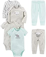 Simple Joys by Carter's Baby-Boys 6-Piece Neutral Bodysuits (Short and Long Sleeve) and Pants