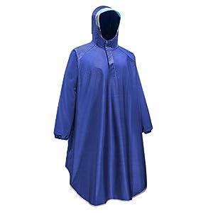 Ynport Crefreak Poncho de pluie imperméable pour homme et femme avec capuche réutilisable et manches portables