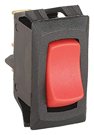 Lighted Rocker Switch SPST 3 Connections
