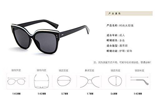 de sol Eye GLSYJ gafas colorido tendencia LSHGYJ black Cat's de retro Moda plaster de gafas señoras sol gafas Wild sol Bright gafas qIZqwdU