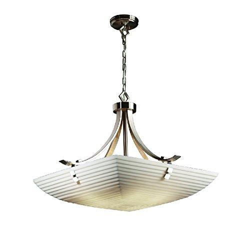 Justice Design Group Lighting PNA-9752-25-SAWT-NCKL-F2-LED5-5000 Porcelina-Flat Bars w/Finials 30