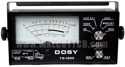 Dosy CB Ham Radio SWR Watt Meter Tr1000 Mobile Remote 1000 watt test Center