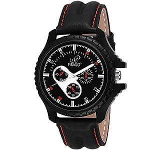 Piraso Analog Black Dial Men's Watch-PW3-20