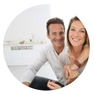 alfombrilla de ratón Encantadora pareja de 40 años de edad en el hogar - ronda - 20cm
