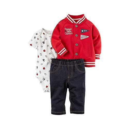 All Star Sports Clothes - Carter's Baby Boys' 3 Piece Daddy's Team Captain Little Jacket Set 3 Months