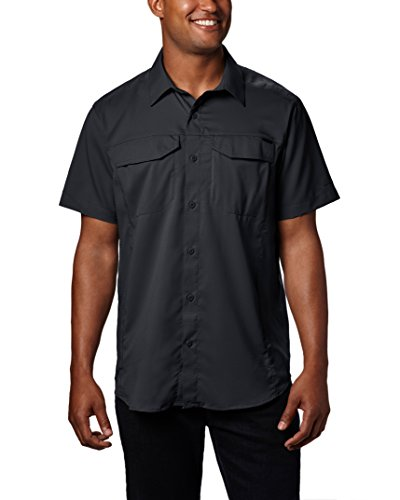 Columbia Men's Silver Ridge Lite Short Sleeve Shirt, Black, X-Large Columbia Chest Pocket Vest