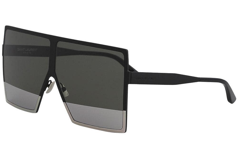 2200e6d901 Amazon.com  Saint Laurent Unisex Sunglasses SL182 BETTY (Black Silver 004)   Clothing