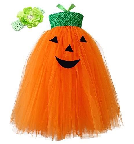 O'COCOLOUR Kids Halloween Dress Up Costume Tutu Set 1-8 Years Old (Pumpkin, -