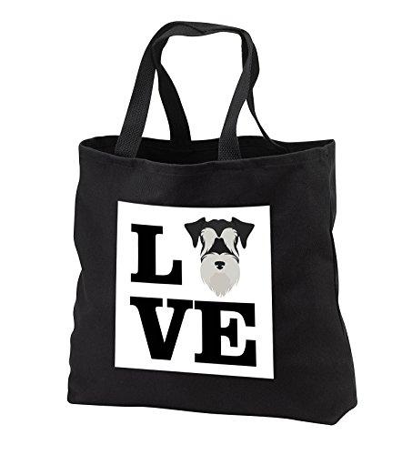 - Carsten Reisinger - Illustrations - I Love My Miniature Schnauzer Dog Design Canine Lover - Tote Bags - Black Tote Bag JUMBO 20w x 15h x 5d (tb_282703_3)