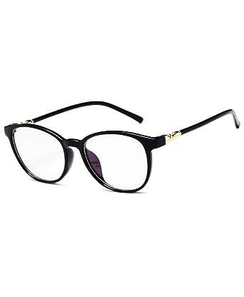 4d3cb5e056172 Lunettes de Vue Vintage pour Femme et Homme Verre Transparent Cadre Frame  Lentille Claire Retro Fashion