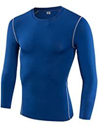 Men Compression Shirts Long Sleeve Thermal Baselayer Coldgeat Running Shirts