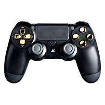 PS3 Playstation 3 Black/Gold Modded Controller (Rapid Fire) COD Ghosts, Black Ops 2 - Jitter, Drop Shot, Auto Aim Zombies, Quick Reload