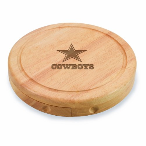 (NFL Dallas Cowboys Brie Cheese Board/Tool Set, 7-1/2 Inch)