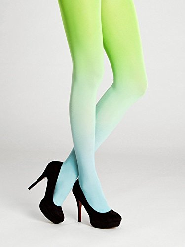 Opaque Fashion Leggings - Turquoise - Green Ombre Tights Spring Women's Fashion Opaque Leggings S-M-L