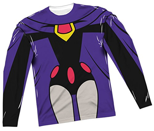 Raven Costume -- Teen Titans All-Over Long-Sleeve T-Shirt, (Dc Comics Raven Costume)
