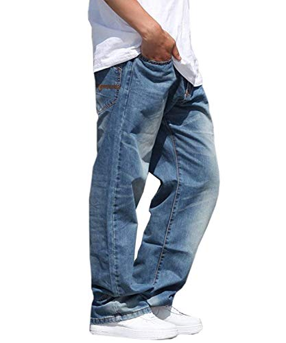 Hombre Jeans para Casual Fit Vaqueros Hop Hip Vintage Fashion Baggy Pantalones Denim Dancing Jeans Men Colour Pants Soft Slim Pantalones ZaEqw05W