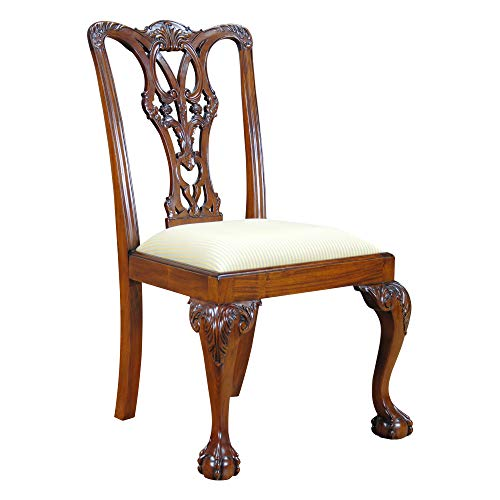 NDRSC048 PAIR of Ball and Claw Mahogany Side Chairs by Niagara Furniture