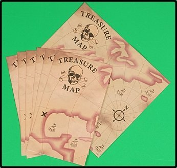 (24 pc. PIRATE treasure maps / toys party)