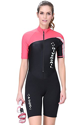 Womens Shorty Wetsuit Front Zip 1.5mm Neoprene Swimsuits ...