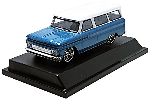 GreenLight 1966 Chevy Suburban Blue with White Roof Vehicle (1:43 Scale) (Chevy Suburban Model compare prices)