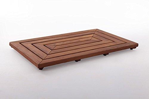Nordic Style Premium Indoor/Outdoor Teak Shower/Bath Mat 31.4″ x 19.6″ in