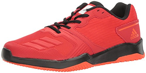 adidas Men's Gym Warrior 2 Cross-Trainer Shoes, Scarlet/Black, (9 M US)