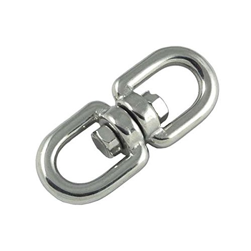 MarineNow 316 Stainless Steel Anchor Swivel Eye - Eye Connector by (06mm - 1/4) -