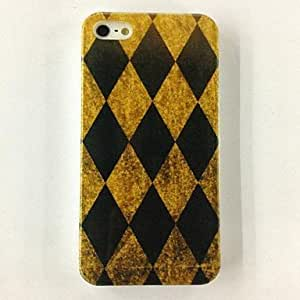 Lozenge Pattern Polycarbonate Hard Case for iPhone 4/4S , Multicolor