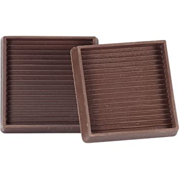 Shepherd Hardware 9078 3 Inch Square Rubber Furniture Cups, 2 Pack