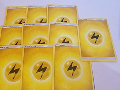 20 Basic Lightning Energy Pokemon Cards (Sun & Moon Series Design, Unnumbered) [Yellow/Electric-Type]