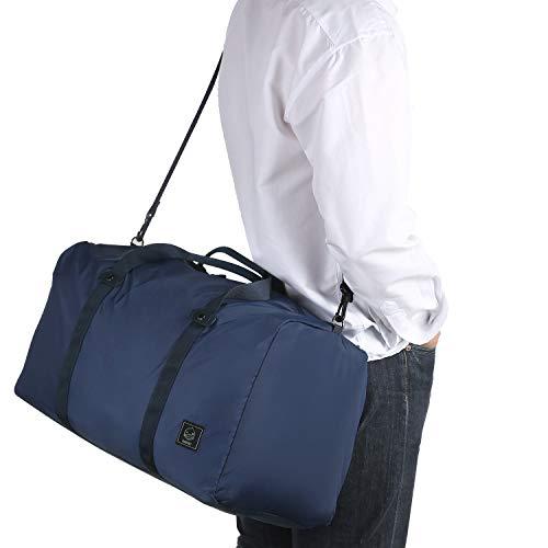 GAGAKU 80L Foldable Travel Duffel Bag Packable Lightweight Duffle Large Flight Cabin Bags for Travel (45L - Blue)