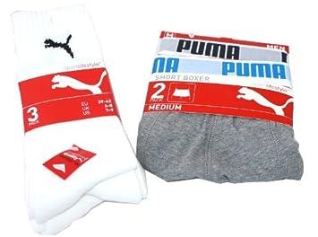 Puma 5 Pack especial Sport=3 Par de calcetines blancos & 2 calzoncillos 1 x