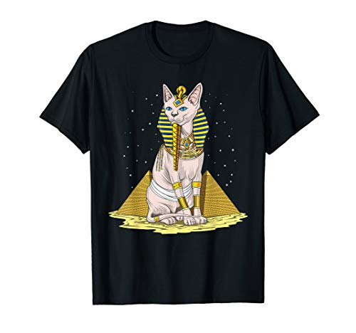 Egyptian Sphynx Cat Goddess Bastet Ancient Mythology T-Shirt -