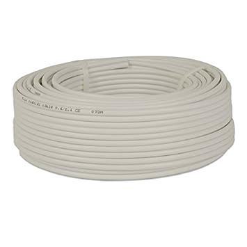 25 m rollo de cable coaxial 2 x 4 mm full HD 25 m, 0