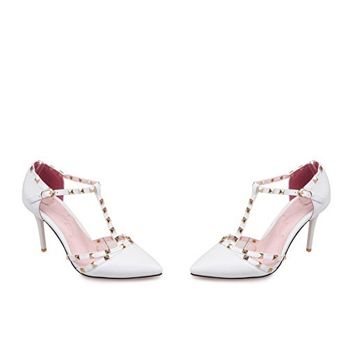 1TO9 Inconnu Sandales Compensées Blanc Femme d070qzw