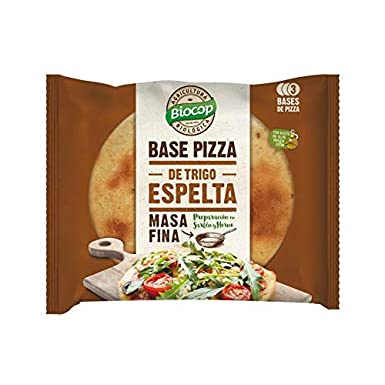 Base de Pizza de Espelta Masa Fina Biocop, 3 bases 390gr: Amazon ...
